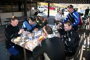 Lunch break for the team at Silverwood