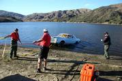 The Car gets Recoverd from the lake