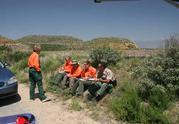 Everyone enjoys lunch, Search team enjoys a bit or two DVL 4-06