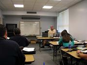 Sgt. Tim Morin instructs the Rescue Diver 1 course in the classroom 05