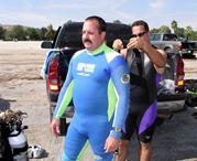 A barrowed Wet suit fits just right!