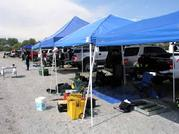 Set up at Lake Perris for Training Day Rescue Diver 1 final