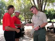 Certificates are handed out by Boyd at Lake Perris 05