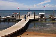 docks at BIBR Roatan Honduras