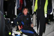 Doc on dive deck for night dive BAIII 06