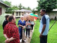 Chief Kinny shows his village to the Guests Bega Island Fiji. In loving Memory of Chief Kinny