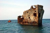 The Sapona wreck Chicken Sholls Bahamas